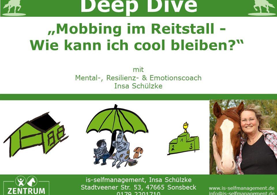 Deep Dive: Cool bleiben im Umgang mit schwierigen (Pferde-) Menschen – Mobbing im Reitstall